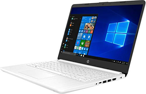"2020 HP 14"" HD (1366 x 768) Thin and Light Laptop PC, Intel Celeron N4020 Dual-Core Processor, 4GB DDR4 Memory, 64GB eMMC, HDMI, WiFi, Bluetooth, Windows 10 S, 1 Year Microsoft 365, Snowflake White"