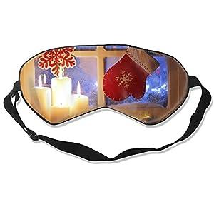 Maschera per gli occhi per la festa di Natale, per dormire, morbida e soffice, per donne e uomini, al 99% di copertura per gli occhi bendati per viaggi turno e lavoro pisolini