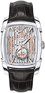 Parmigiani Kalpa Xl Hebdomadaire Men's Silver and Peach Dial Leather Band Watch - PFC101-1200100-HA1241