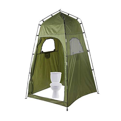 Tienda de aseo portátil para acampar al aire libre, tienda de ducha, refugio para acampar, playa, baño, almacenamiento con bolsa de transporte