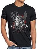 CottonCloud Ragnar Lodbrok T-Shirt da Uomo Vichinghi Valhalla, Dimensione:XL