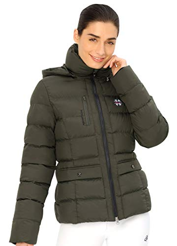 SPOOKS Damen Jacke, leichte Damenjacke mit Kapuze, Herbstjacke - Finja Jacket - Olive XXL