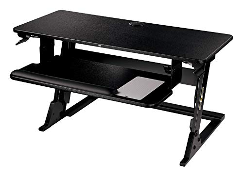 3M Precision Standing Desk, Convert Desk to Sit Stand Desk, Fully Assembled, Provides Maximum Adjustability to Achieve Your Most Comfortable Standing Work Position, Gel Wrist Rest, Mouse Pad, SD60B