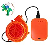 2 Pieces Orange Mini Fan Blower for Doll Mascot Head Inflatable Costume Powered by USB Cable or Battery