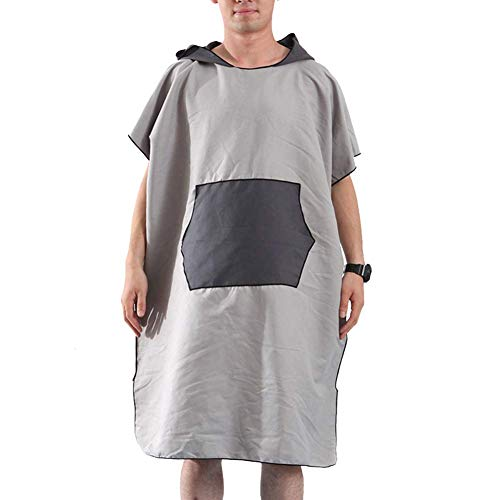 Beach Poncho, Microfiber Surf Beach Wetsuit Sneldrogende handdoek badjas Poncho met capuchon - One Size Fit All