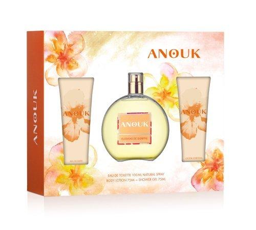 Anouk - Set para Mujer con Agua de Tocador 100 ml + Locion Corporal 75 ml + Gel de Ducha 75 ml