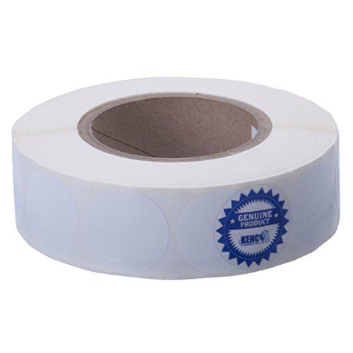 Kenco Premium Inkjet Etiketten für Tintenstrahldrucker, 3,8 cm, rund, hochglänzend Kompatibel mit Primera Color Etikettendruckern und vielen anderen Druckermarken. 1600 Etiketten auf 7,6 cm Kern.