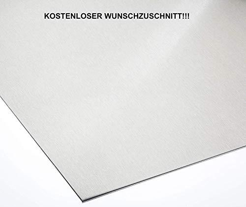 Aluminiumblech AlMg3 Alu 1,5mm dick einseitig Schutzfolie Alublech Zuschnitt nach Maß (500 mm x 150 mm)