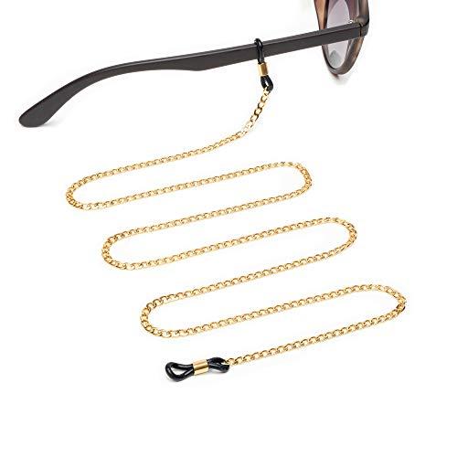 Jalouza Brillenkette in Gold - Goldene Sonnenbrillenkette für Damen & Herren - Design: Anker-Kette