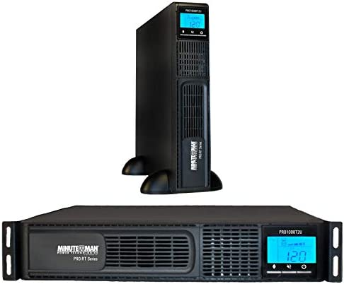 Minuteman/para Systems - PRO1000RT2U - PRO-RT2U Series Line Interactive Rack/Tower/Wallmount UPS (3-Year Warranty SentryPlus Software Included with All Models.) 1000 VA/700 Watts LCD