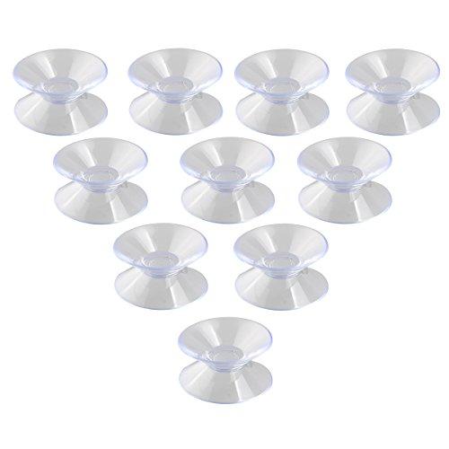 NUOLUX 10pcs 30mm Double Face ventouses Sucker Pads pour Verre Plastique