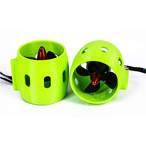 Yuenhoang Brushless Motor Underwater Thruster 12V-24V CW CCW 4-Blade Nylon Propeller for DIY Underwater Robot RC Bait Tug Boats (1pair CW&CCW)