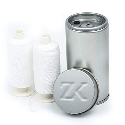 Zahnseidenkampagne Flauschige Expanding Premium Zahnseide gewachst, weiß (2 x 250 m + Spender)