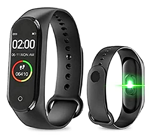 M4 Band Intelligence Bluetooth Wrist Smart Band Watch/Health Bracelet/Activity Tracker/Smart Fitness Band/with Heart Rate Sensor Compatible for All Androids iOS Phone/Tablet