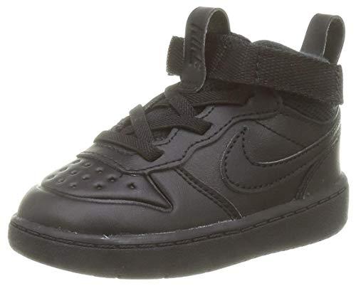 Nike Baby-Jungen Court Borough MID 2 Boot (TD) Sneaker, Black/Black-Black, 23.5 EU