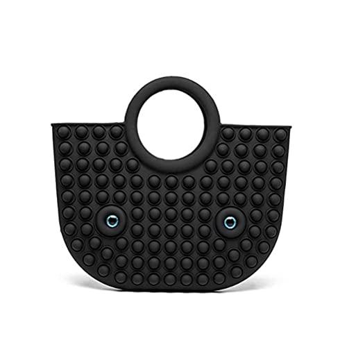 SUPYINI Push Bubble Handbag Bag Novelty Large Silicone Bag Decompression Puzzle Bubble Bag