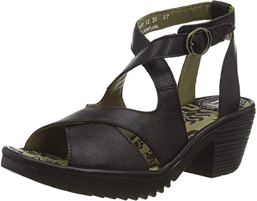 Fly London Damen Wafe152fly Sandalen, Schwarz (Black 000), 39 EU