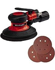 Einhell Pneumatische Excentrische Schuurmachine TC-PE 150 (Geschikt voor slijp-/schuurwerk op hout,ijzer en kunststof, trillingsabsorberende handgreep, ø150 mm schuurschijfg, incl. 6x schuurvellen)
