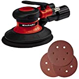 Einhell Pneumatic eccentric sander TC-PE 150 (150mm diameter backing pad, stepless speed adjustment lever, 6 sanding papers, fitting, spanner)