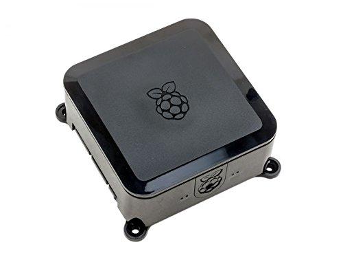 Mini-PC-Gehäuse für Raspberry Pi 2, Pi 3, Pi B plus inkl. Einschub für 2,5-Zoll-Festplatte (6,35 cm) oder SSD, schwarz
