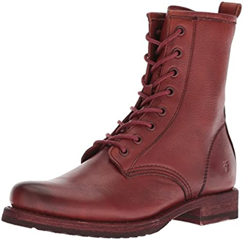 FRYE damen& 039;s Veronica Combat Ankle Stiefel, rot Clay, 8 M US