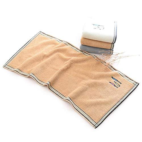 Männer und Frauen Bestickten Handtuch zu Hause Waschen Handtuch, Braun