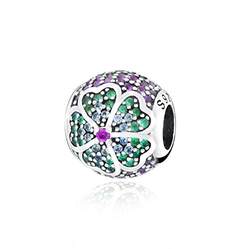 Diy Jewelry Fit Original Pandora Bracelets Fashion Jewelry 925 Sterling Silver Beads Flower Pave Charm Diy Women Gift