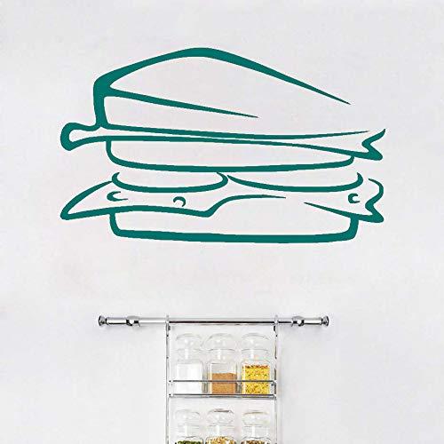 Köstliche sandwich lebensmittel vinyl europäischen stil entfernbare wandaufkleber diy wohnkultur wasserdicht pvc küche wandkunst mural ~ 1 71 * 43 cm