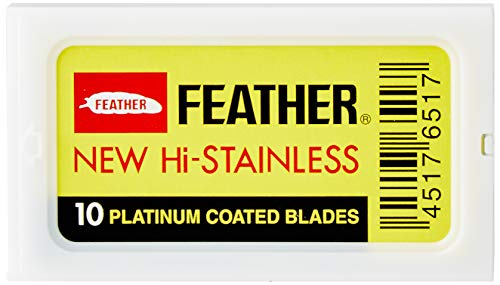 100 Lamette da barba Feather New Hi Stainless