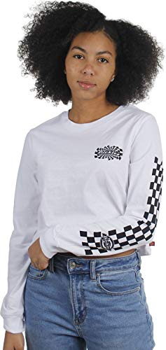Dickies Girl - Swirl Check Cropped Long Sleeve T-Shirt, X-Small,...