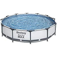 Bestway 12 ft x 30 Inch Steel Pro MAX Above Ground Swimming Pool