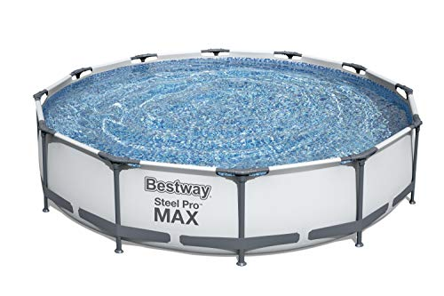 Bestway 56061US Steel Pro MAX Above Ground Swimming Pool, 12' x 30', White