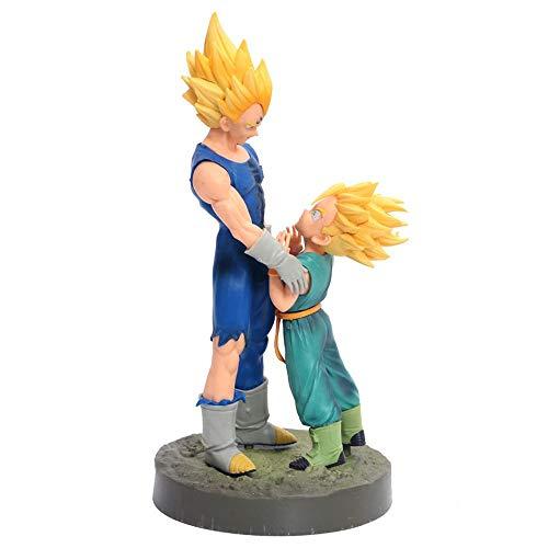 HZLQ Dragon Ball Majin Vegeta Trunks Anime Model Statue Animierter Charakter Kunstsammlung Spielzeugfigur 13cm 13cm