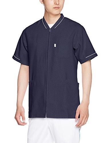 [ミズノ] 医療 白衣 スクラブ メンズ レディース 着脱簡単 ファスナースクラブ[ストレッチ/制電/消臭/工業洗濯対応]全7サイズSS~4L 選べる11色 MZ0150 ネイビー 日本 4L-(日本サイズ4L相当)