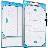 Elite Clipboards Dry Erase Hockey Coaches Clipboard | Double-Sided Hockey Marker Board