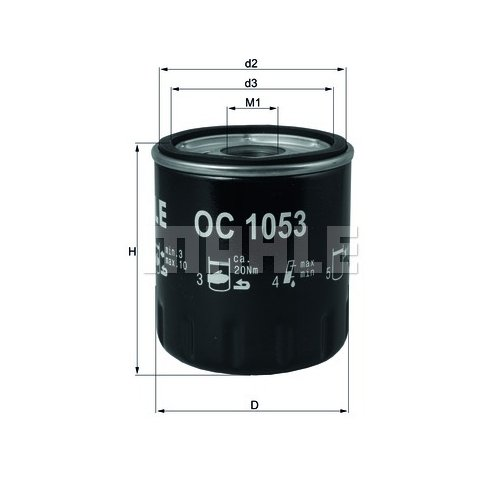 Öllfilter MAHLE KNECHT OC 1053