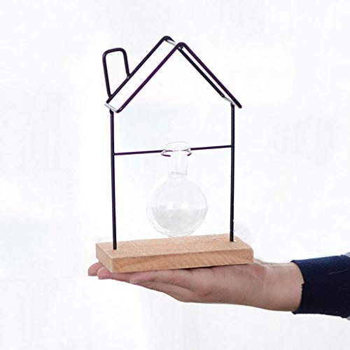 NHLBD Home decoratie/Feng Shui tafel Decoratie Land Creatieve Kleine Kamer Hydroponische Plant Container Glas Vaas Decoratie Thuis Shop Iron Retro 15 * 8 * 23cm
