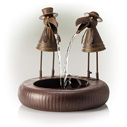 Alpine Corporation 51 cm Tall Outdoor Metal Toucan Water Fountain Yard Art...