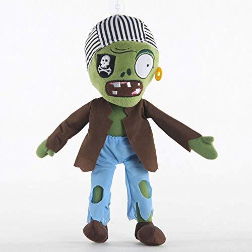 Ckblym Comprar Ahora: hhtoy Viejo Pirata Zombie Peluche Juguetes 30 cm Plantas vs Zombies Anime Figuras Suave Relleno muñeca Regalos para niños niños