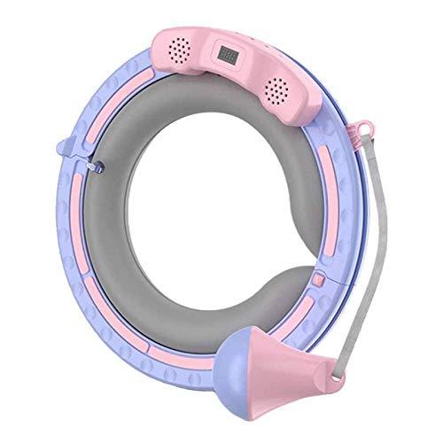Hoola Circle para adultos, anillo de yoga con peso inteligente para fitness, anillo ajustable de material ABS con pantalla LCD, música Bluetooth y luces de color