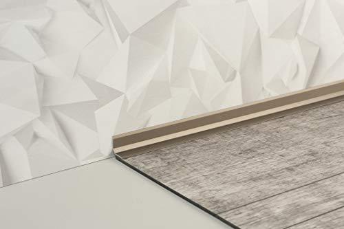 Aluminium-Wandanschlussprofil - selbstklebend, verschiedene Farben, 250cm (weiß)