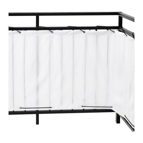 Ikea DYNING Sichtschutz für Balkon; in weiß; (250x80cm)