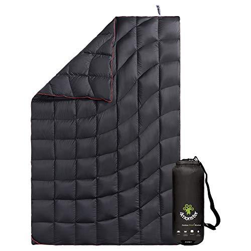 4Monster Outdoor Daunendecke Ultraleicht für Camping, Kompakte Reisedecke Bettdecke Warm Weich für Outdoor Indoor Reise
