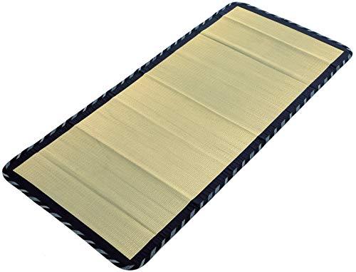 "MIINA Japanese Traditional Igusa (Rush Grass) Tatami Mattress, Sleeping Mat, Japanese futon Mattress, Goza Mat (Twin, Natural) 35"" X 79"""