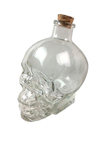 Glass Skull Bottle Flask 380 ML Decanter