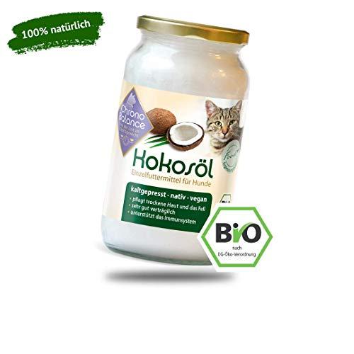ChronoBalance® Bio Kokosöl für Katzen - natürliche Nahrungsergänzung - für Fellpflege und Hautpflege - vegan (1000ml)