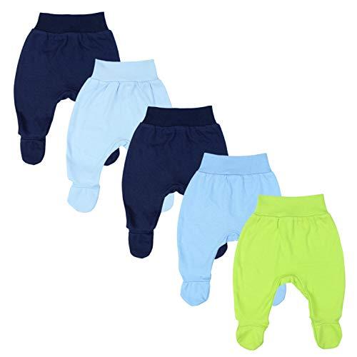 TupTam Baby Jungen Strampelhose mit Fuß 5er Pack, Farbe: Farbenmix 2, Größe: 56