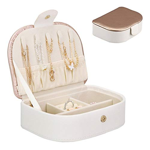 Jewellery Box Portable Travel Jewelry Box Organizer Display Storage Case For Rings And Earrings for Girls and Women's Gift (Color : B, Size : Small)