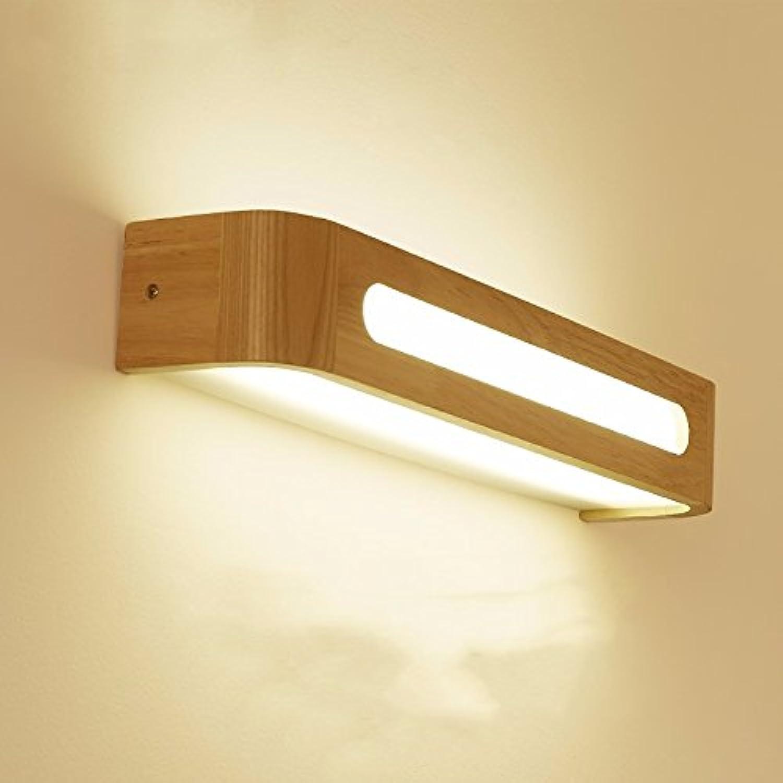 StiefelU LED Wandleuchte nach oben und unten Wandleuchten Treppen passage Massivholz Schlafzimmer Wand lampe Nachttischlampe LED Badezimmer Spiegel vorne Licht Holz