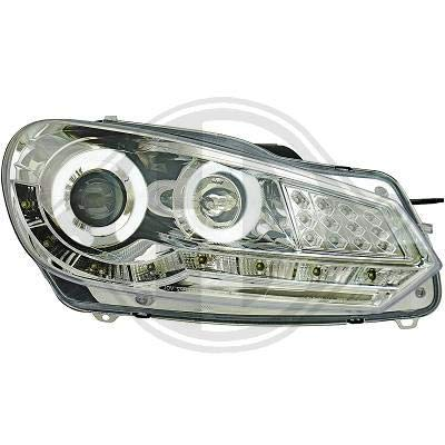 2215586 koplamp daylight led chroom voor Golf 6 limousine 2008 tot 2012